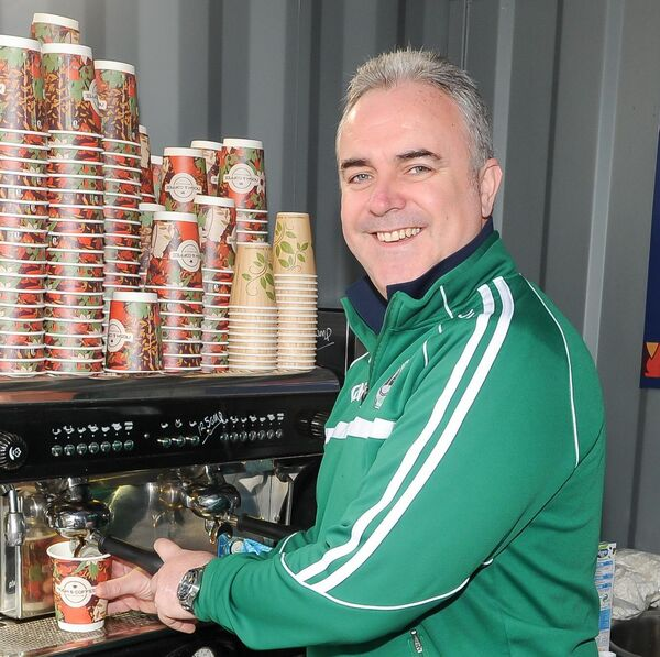 Chairman David Walsh at An Camann Tae coffee dock in association with Ballincollig GAA. Picture: David Keane.