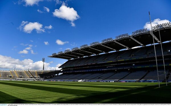 A general view of Croke Park, with the Cusack Stand to the fore, during a HSE/GAA media walkabout of the testing facilities. Picture: Ray McManus/Sportsfile