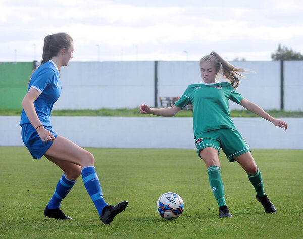 Megan playing for Cork City U17s.