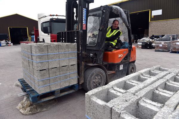 Paddy Lucey, loading up blocks at DPL, Kinsale road Cork after the re-opening of some DIY , garden centres and builders providers during the current Covid-19 pandemic Picture: Eddie O'Hare