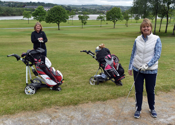 Sisters Trish O'Donovan and Eimear Nation at the Ted McCarthy municipal golf course in Mahon.Picture: Eddie O'Hare