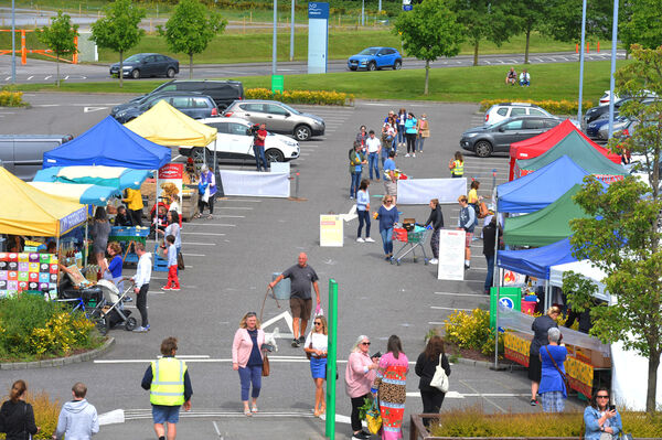 The weekly Farmers Market resumed at Mahon Point.Pic; Larry Cummins