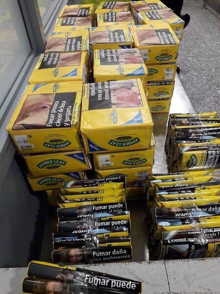 75kg of tobacco seized at Cork Airport.