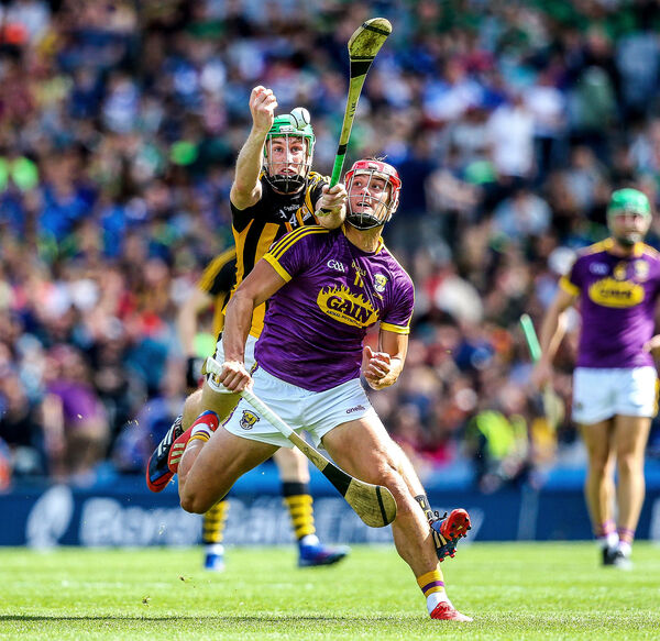 Kilkenny's Joey Holden battles Lee Chin of Wexford last summer. Picture: INPHO/Gary Carr