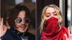 Amber Heard spat at Johnny Depp, claims security guard