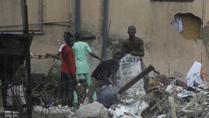 Adult and child killed in Nigeria building collapse