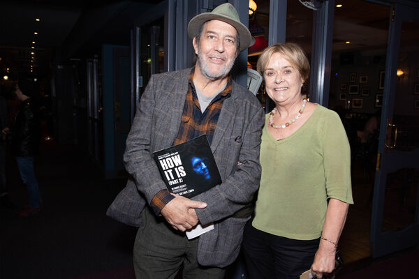 Actor Ciarán Hinds and Jean Kearney, Kearney Melia Barker .