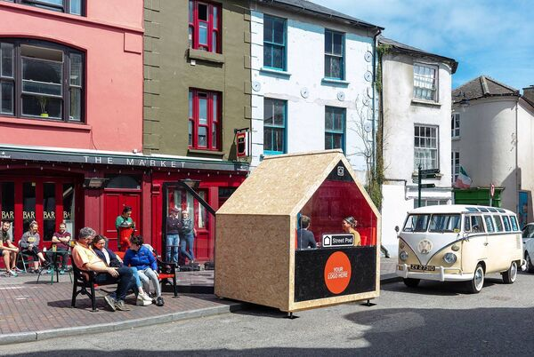 The Street Pod, designed by architect Mar O'Riain and built by local builder Brian O'Regan.
