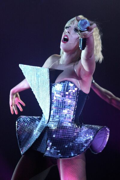 Lady Gaga on the stage at Live at the Marquee in Cork  in 2009. Picture: Miki Barlok