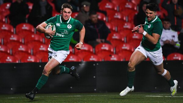 Jack Crowley of Ireland a try at Musgrave Park. Picture: Harry Murphy/Sportsfile