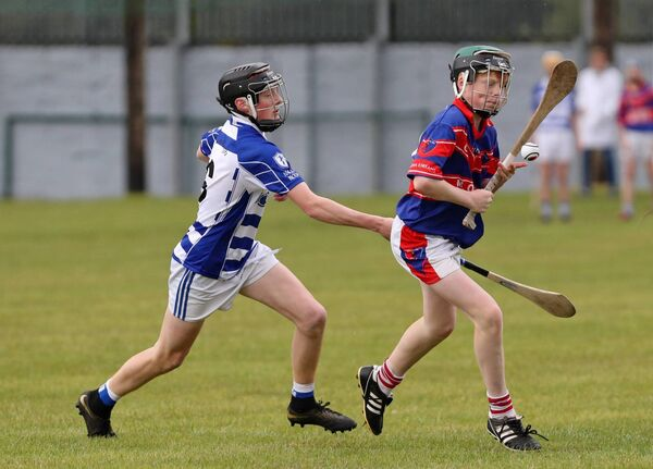Shane Irwin, Erin's Own, takes on Rian Redfern, Naas, in last year's Féile. Picture: Jim Coughlan.