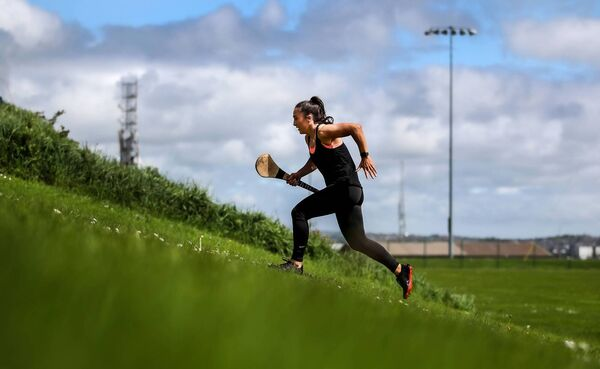 Cork camogie star Amy O'Connor training last weekend. Picture: INPHO/Dan Sheridan