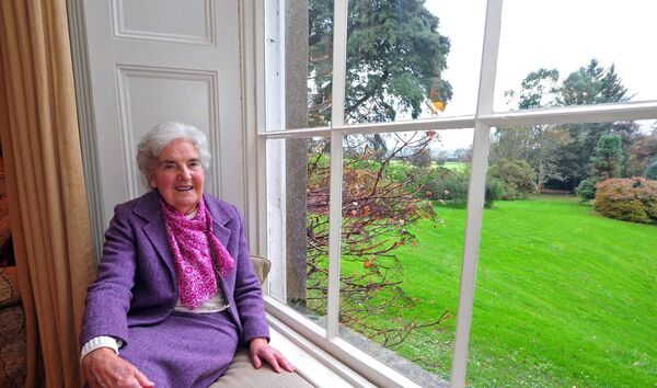 Myrtle Allen relaxing at Ballymaloe House. /Picture: Denis Minihane.