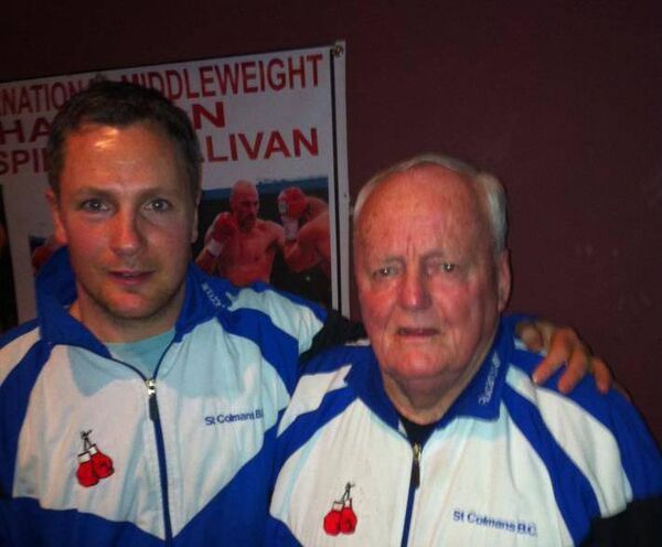Cork boxing: Pa Walsh and his father Maurice Walsh.