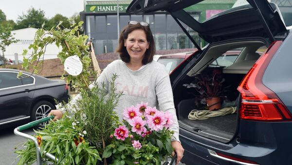 Eleanor Morehead after buying flowers at Hanley's garden centre.Picture: Eddie O'Hare