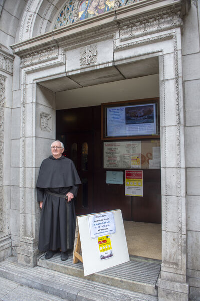 Fr. John Lyng, Prior at St. Augustine's Church, Washington Street, Cork which is now opened at selected times throughout the day for private prayer. Picture Dan Linehan