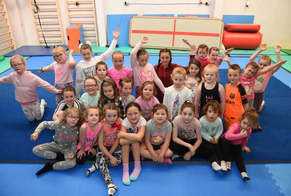 Open day at 'Superstars Stage School' at Brocklesby Street, Blackpool. Young participants who enjoyed a gymnastics class.Pic; Larry Cummins