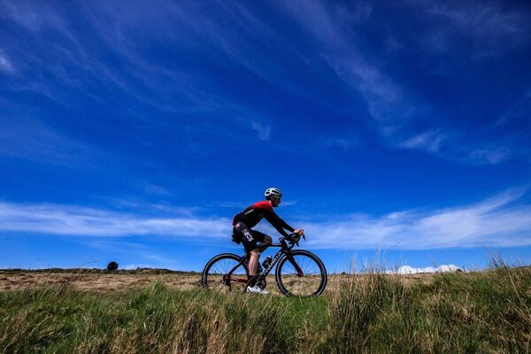 Professional cyclist Eddie Dunbar of Team INEOS training near his home in Banteer. Picture: INPHO/Bryan Keane