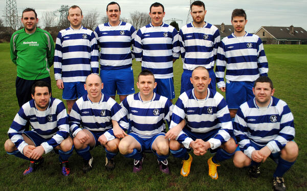 Grattan United FC who were chammpions of the Premier League in 2014-15. Picture: Barry Peelo.