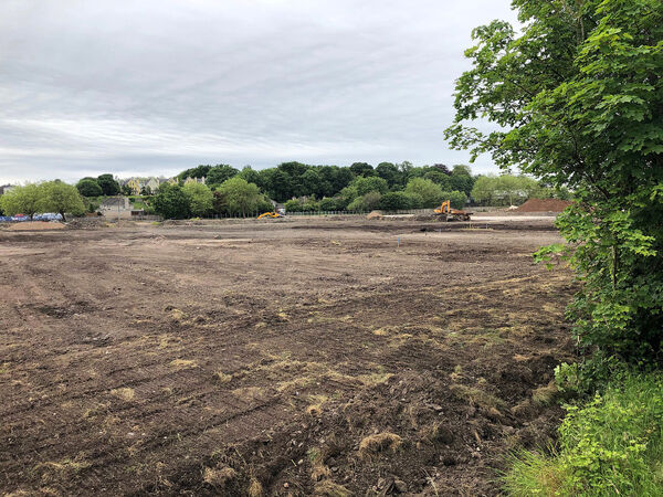 View of the site works currently underway for the new public park. Picture: Larry Cummins.