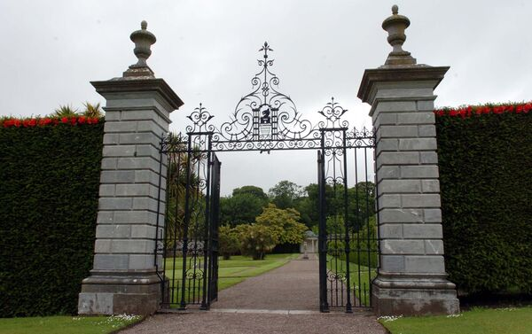 The Lady Mary gates entrance to the Pleasure Gardens at Fota Arboretum & Gardens. Picture Denis Minihane.