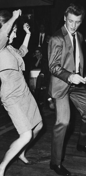 SHOWING HOW IT'S DONE: French singer Johnny Hallyday and actress Valerie Camille dancing the twist in 1962. Picture: Gamma-Keystone via Getty Images