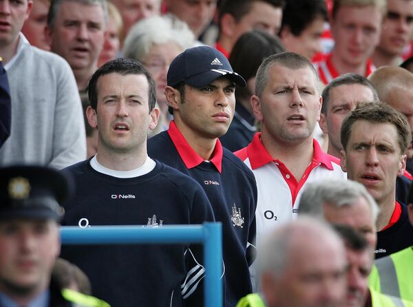 Donal Óg, Seán Óg and Diarmuid O'Sullivan when they were suspended in 2007. Picture: INPHO/Morgan Treacy
