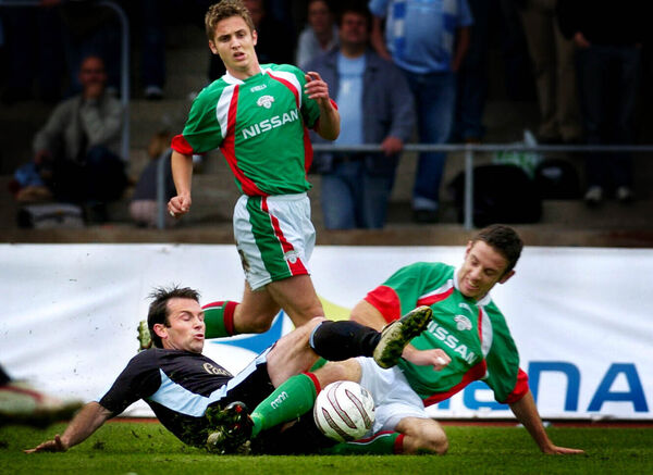 Cork City and Malmo action from 2004.