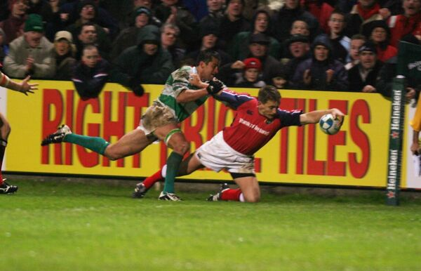 Munster's Shaun Payne goes over for a try against Benneton Treviso at Thomand Park. Picture: Brian Arthur/Press 22.