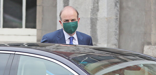Taoiseach Micheal Martin arriving for the Cabinet meeting at Dublin Castle. Photo: Niall Carson/PA Wire