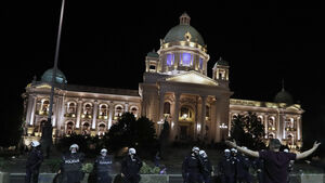 Serbian leader backtracks on virus lockdown after protest