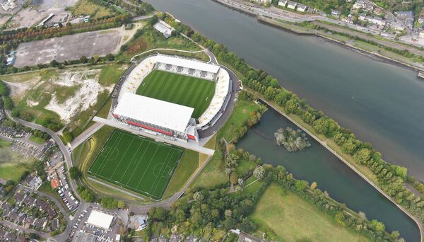 The new Páirc from the air. Picture: Larry Cummins