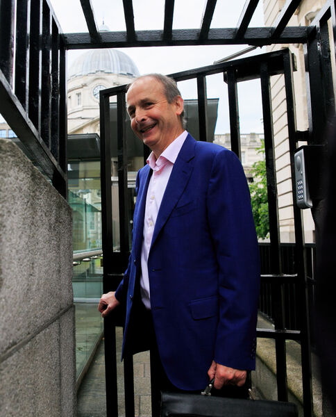 Fianna Fail leader Micheal Martin TD during Government talks at Government Buildings, Dublin.Photo:Gareth Chaney/Collins