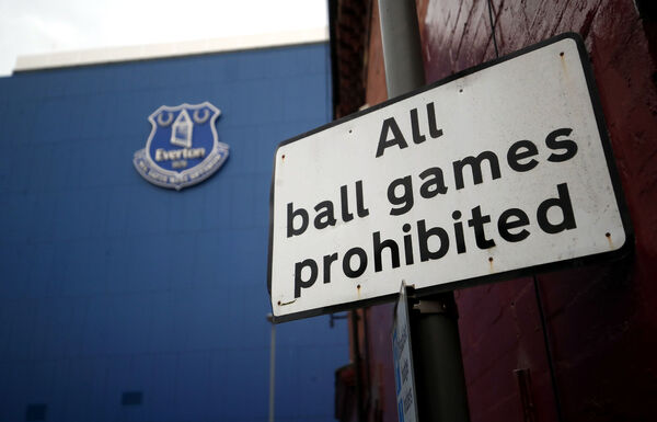 Goodison Park, home of Everton FC, is set to play host to the Merseyside derby on June 21. Fears that it would be moved to a neutral venue due to concerns over crowds gathering outside the venue contravening pandemic regulations have been resolved. However, financial hits to Premier League clubs may prove to be more of an existential dilemma. 	Picture: Rickett/PA Wire