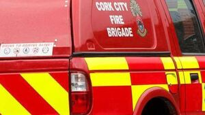Fire Service dealing with vehicle fire on busy Cork city road