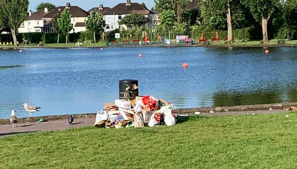 Rubbish at the Lough. Picture Credit: Neil Prendeville Twitter.