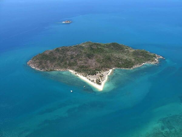 The island in Northern Australia where David Glasheen lives. Pictures from David Glasheen.