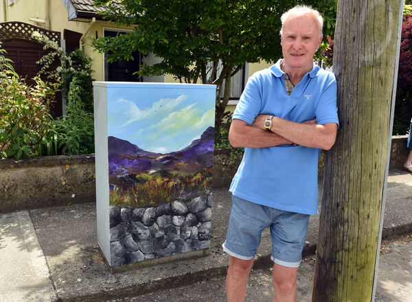 Local artist Barry Looney who has painted two incredible landscape pictures on electrical boxes on Magazine Road (pictured a scene from West Cork)Picture: Eddie O'Hare