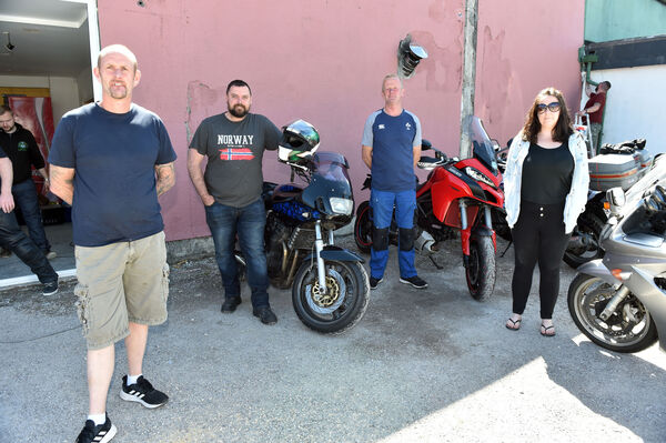 Ken Downey, Ken O'Mahony, Brian Shanahan and Siobhan Fogarty volunteers at Midleton Bike projectPicture: Eddie O'Hare