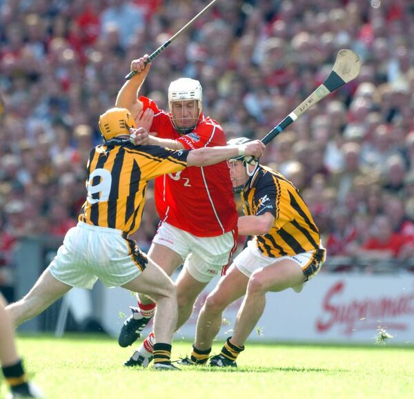 Cork's Timmy McCarthy is stopped by Kilkenny''s Cha Fitzpatrick and Derek Lyng in the 2006 All-Ireland. Picture: Eddie O'Hare
