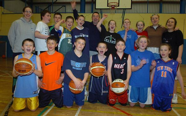 Fun at the Rip 'n Run Basketball camp in Cork in 2009, when Irish international Jordan Blount was among the young players. Picture: Larry Cummins