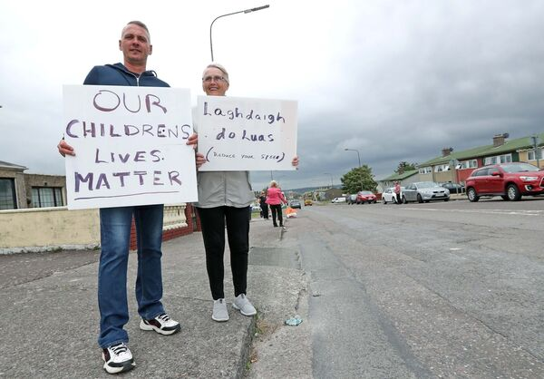 Kilmore Road residents, Richard and Katherine Anderson.Picture: Jim Coughlan.
