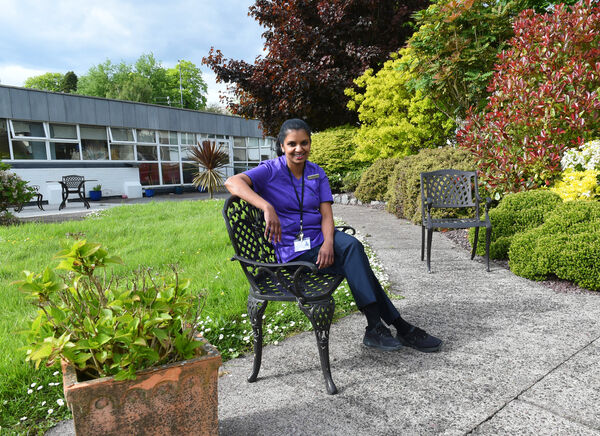 Saritha Ravindran at St. Clare's Ward, St Finbarr's Hospital, Cork.Pic; Larry Cummins