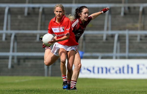 Orla Finn on the ball.