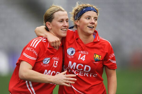 Cork legends Mary O'Connor and Valerie Mulcahy. Picture: Ray McManus/SPORTSFILE