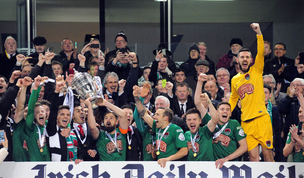 Cork City won the cup in 2016 and the double a year later. Picture: Eddie O'Hare