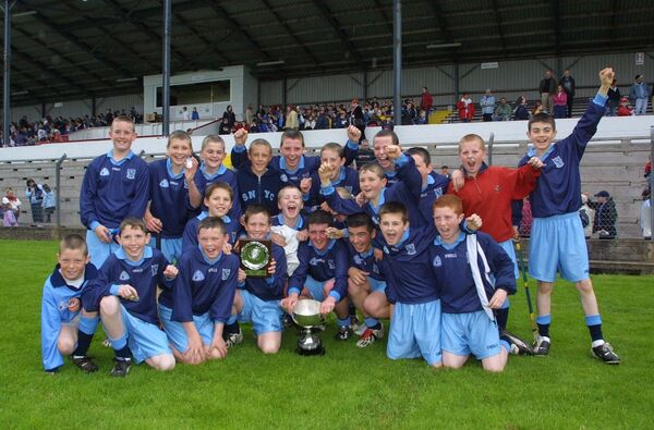 Celebrations for Scoil Oilibhéir after victory in 2003. Picture: Neil Danton