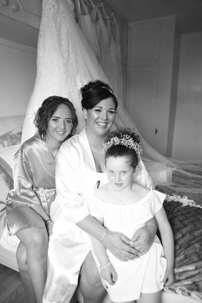 Pamela and her daughters Caoimhe and Nicole.