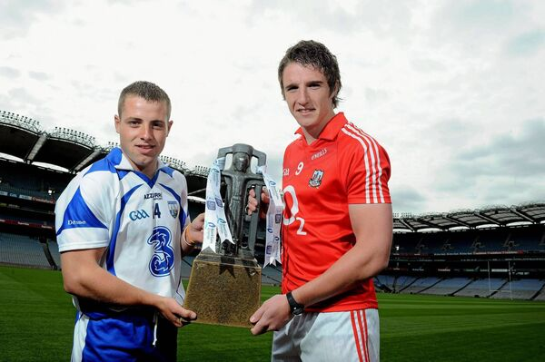 Waterford's Noel Connors and Cork's Aidan Walsh ahead of the 2010 U21 Championship. Picture credit: Brian Lawless/SPORTSFILE