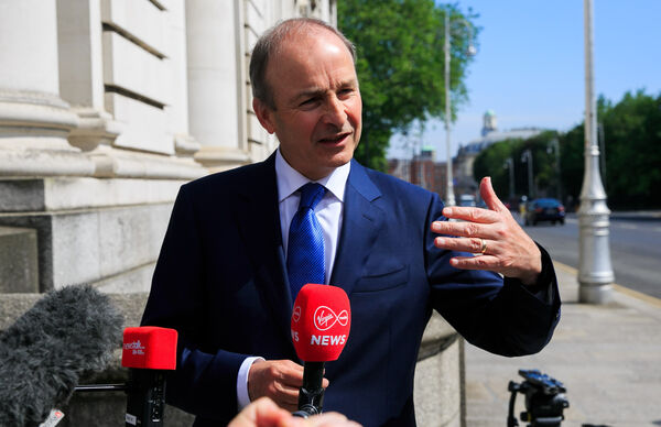 Fianna Fáil leader Micheal Martin TD during Government talksat Government buildings on Merrion Street Dublin.Photo:Gareth Chaney/Collins